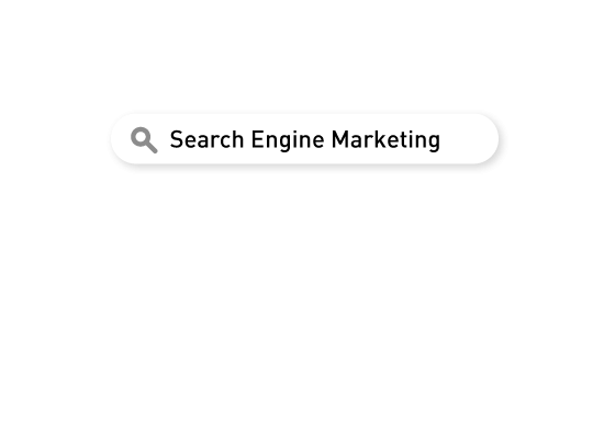 """A search bar with a tasteful drop shadow. Inside the search bar, the text """"Search Engine Marketing"""" exists. A fanciful exploration of the idea of recursion. A search bar with a tasteful drop shadow. Inside the search bar, the text """"Search Engine Marketing"""" exists. A fanciful exploration of the idea of recursion."""